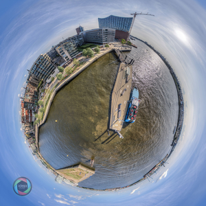 Little Planet Effekt der Hamburger Hafencity