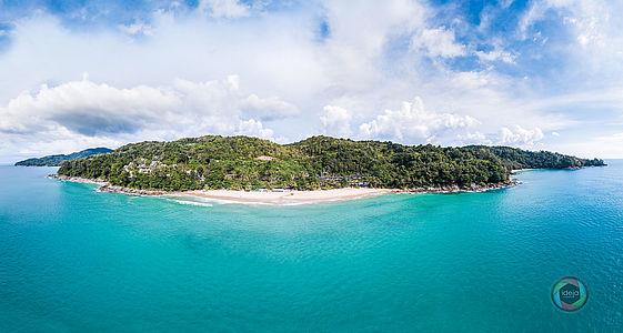 HDR Panorama Küstenlinie Phuket, Thailand