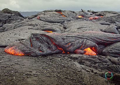 Lava des Vulkans Hilo auf Hawaii