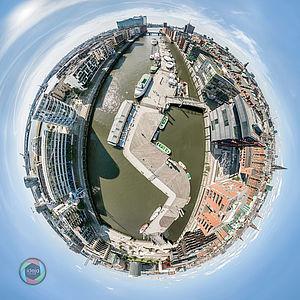 Little Planet Effekt der Hafencity in Hamburg