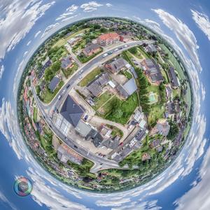 Little Planet Effekt von Elmenhorst, Schleswig-Holstein
