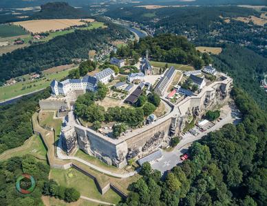 HDR Aufnahme der Festung Königsstein in der Sächsischen Schweiz