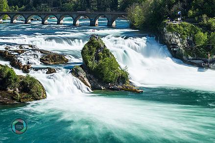 Langzeitbelichtung Rheinfall Schweiz