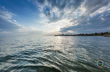 Gegenlichtaufnahme Bodensee