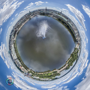 Little Planet Effekt der Binnenalster in Hamburg
