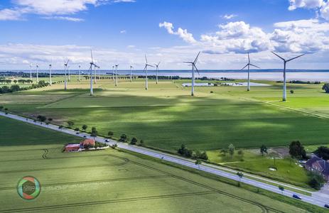 HDR Aufnahme eines Winparks an der Nordsee