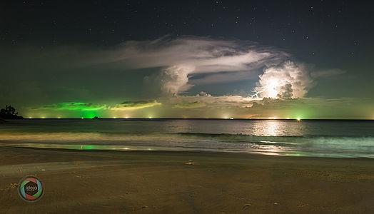 Tropisches Gewitter über Phuket, Thailand
