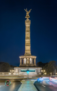 HDR Panorama der Siegessäule in Berlin