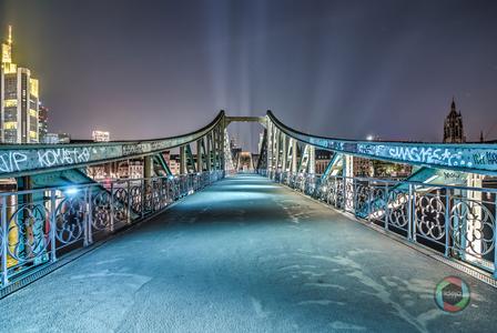 Der Eiserne Steg in Frankfurt am Main HDR