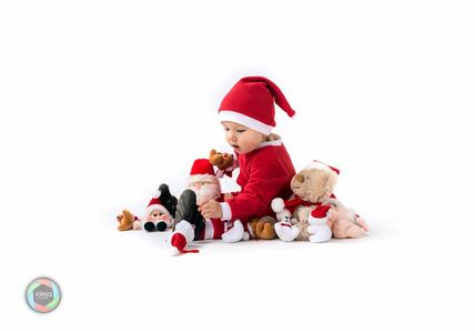 Weihnachtsbaby im Studio