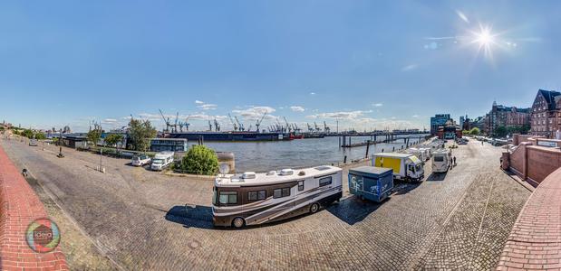 Hamburg Fischmarkt HDR Panorama