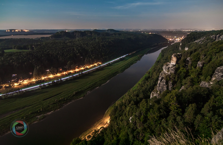Die Elbe im Elbsandsteingebirge in der Sächsischen Schweiz