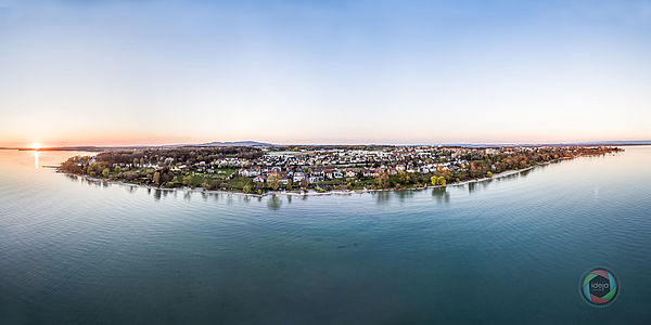 HDR Luftanorama vom Bodensee