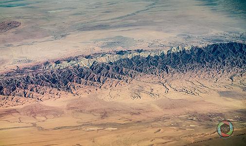 Das Elburs-Gebirge über dem Iran