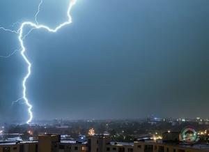 Gewitter über Hamburg
