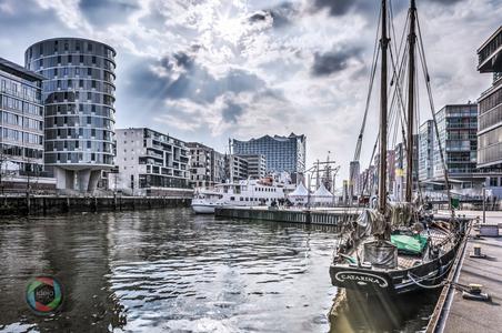 HDR Aufnahme der Hamburger Hafencity
