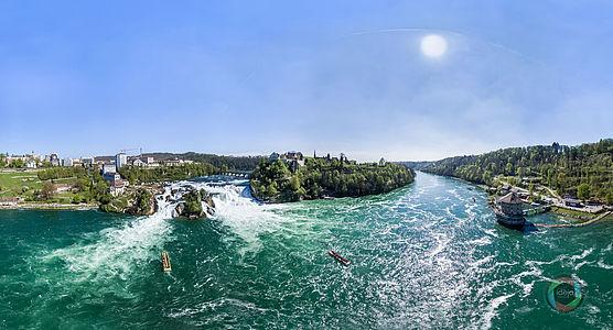 HDR Panorama vom Rheinfall in der Schweiz