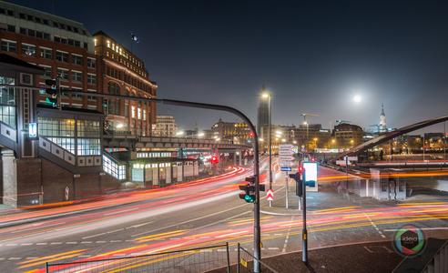 Vollmondnacht in der Hamburger Speicherstadt